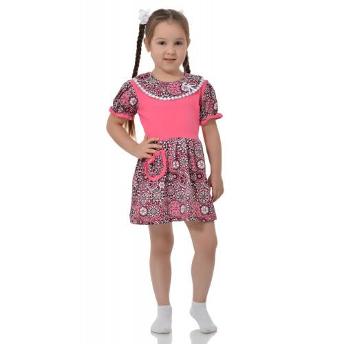 Детское платье круглый ворот кулирка