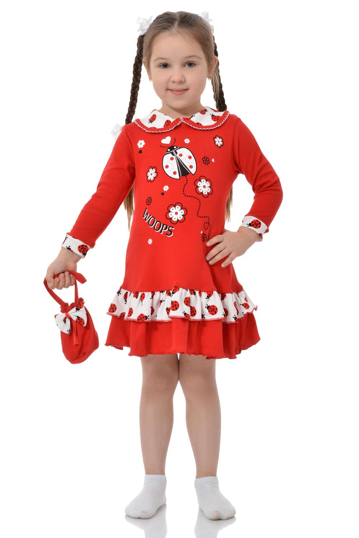 """Платье для девочек """"Божья коровка"""""""
