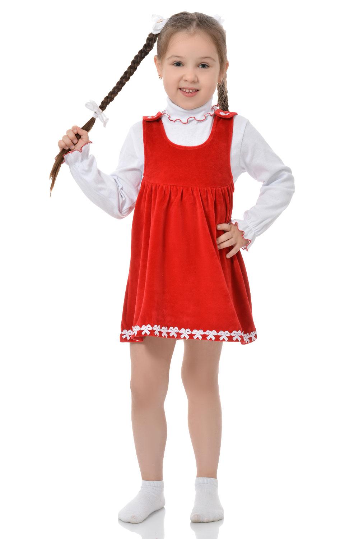 Детский сарафан с белой водолазкой