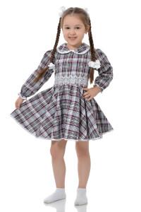 """Платье для девочки шотландка """"Колокольчик"""""""