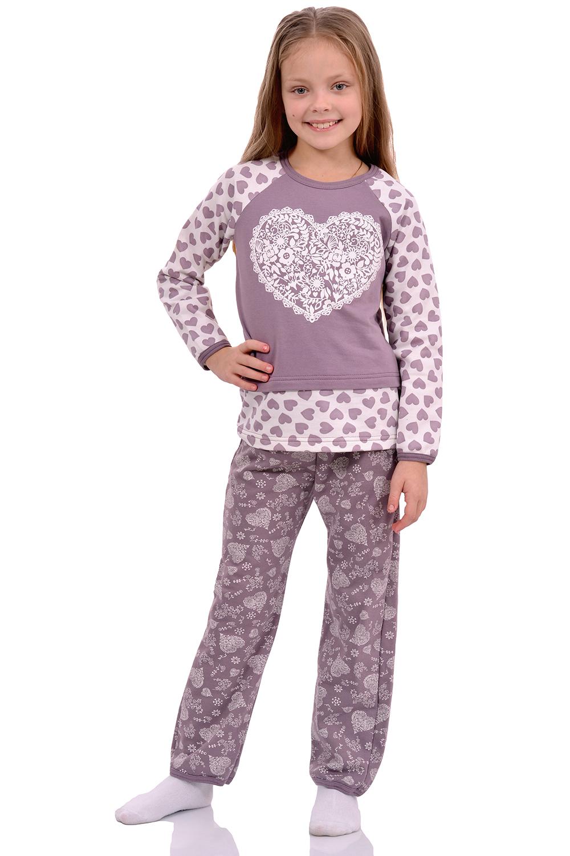 Детская пижама футер Сердечко