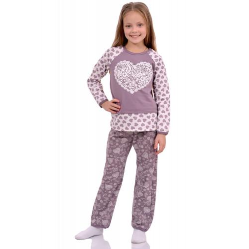 Пижама для девочек кулирка Сердечко