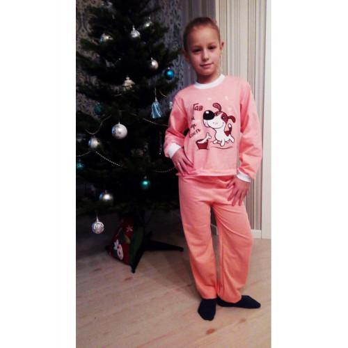 Пижама детская футер с принтом