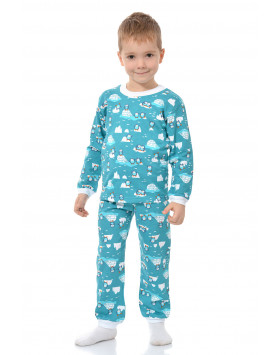 Детская пижама на манжетках кулирка