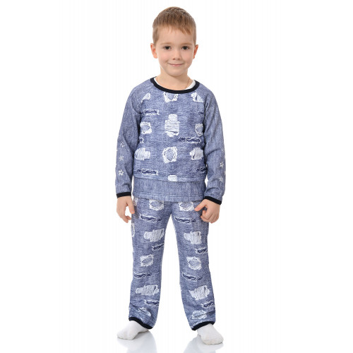 Детская пижама футер Звездочки
