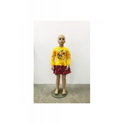 Платье для девочки Даша футер