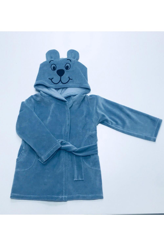 Детский халат велюр Мишка