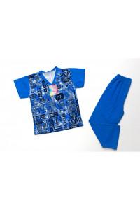 Детская пижама для мальчика короткий рукав кулирка