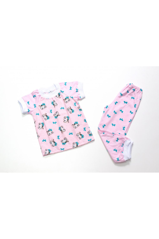 Пижама для девочки короткий рукав Котятки