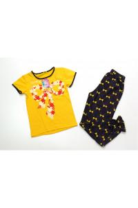 Детская пижама короткий рукав Бантик