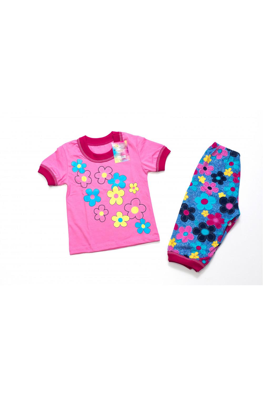 Костюм для девочки Цветы (футболка и бриджи)