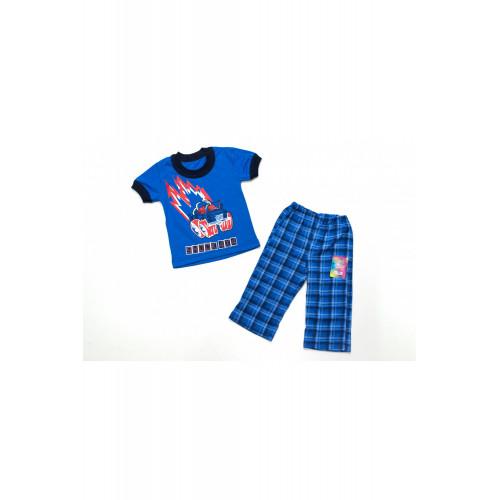 Костюм для мальчика Машинка кулир бриджи с футболкой