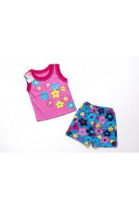Костюм для девочки майка с шорты Цветы