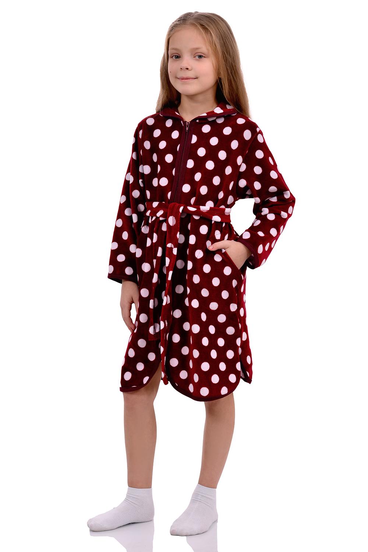 Детский халат велюр для девочек