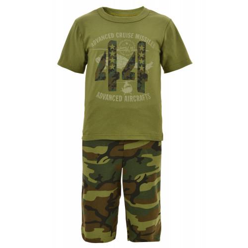 Костюм для мальчика камуфляж 44 (футболка+бриджи)