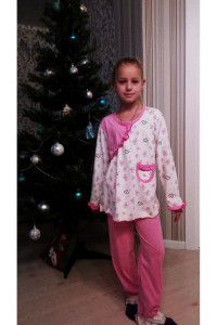 Детская пижама Рюша длинный рукав