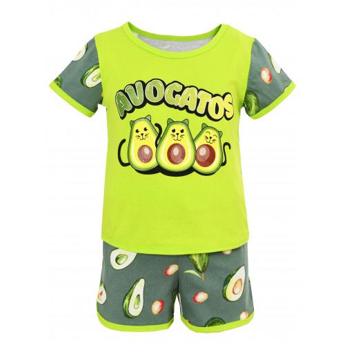 Детская пижама Ника авокадо кулир купить оптом