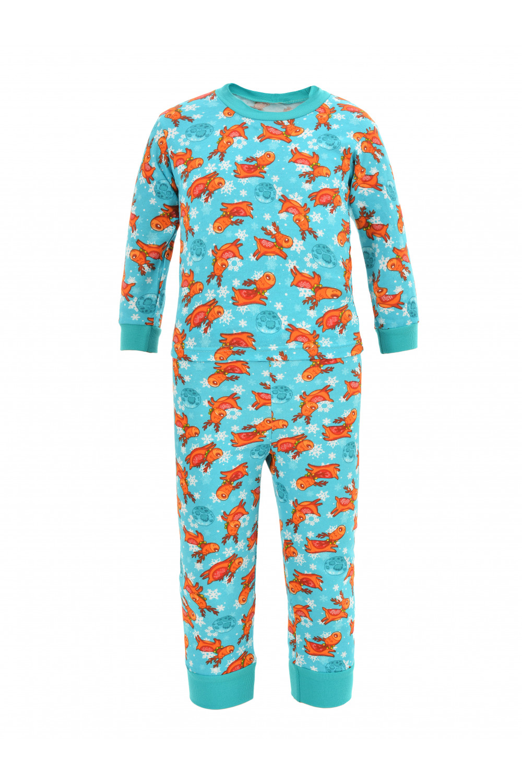Пижама на манжетах из футера