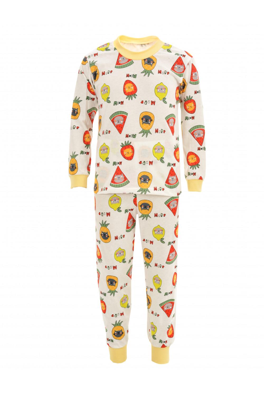 Пижама на манжетах из кулирки