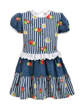 Платье Клубничка
