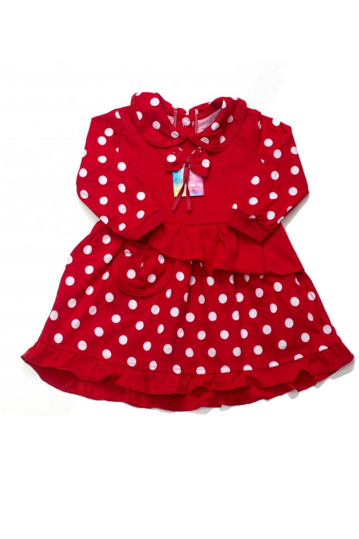 Платье для девочек кулир длинный рукав