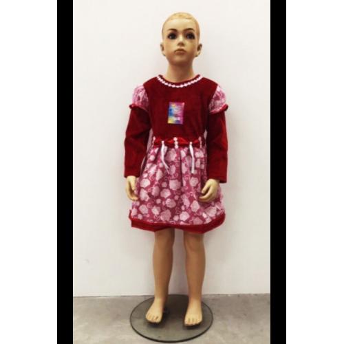 Детское платье велюр с шифоном