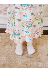 Ночная сорочка для девочки кулирка на резинке