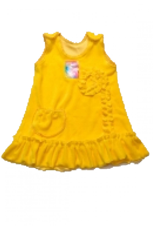 Сарафан для девочки велюр с розочкой