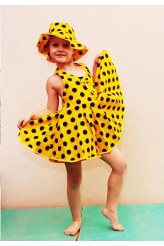 Сарафан для девочки с панамой бязь